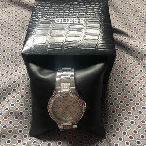 Guess Rhinestone Chronograph Watch